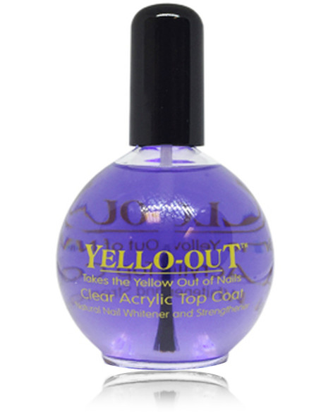 YELLO-OUT Tinted Clear Acrylic Top Coat 2.5oz.