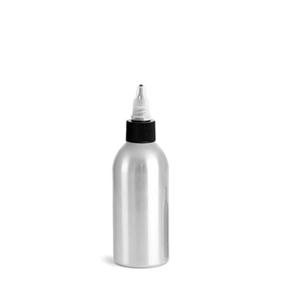 BOTTLE-Aluminum/Black Twist Top 4oz.