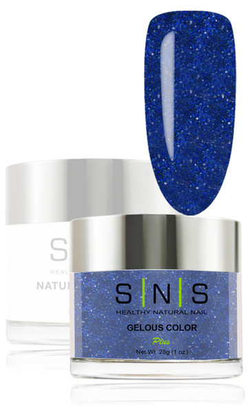 SNS Gelous Dip Powder - SNS 124 Twilight Blue