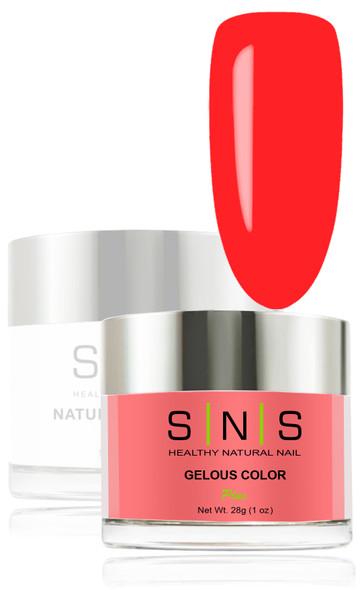 SNS Gelous Dip Powder - SNS 135 Triumphant Red
