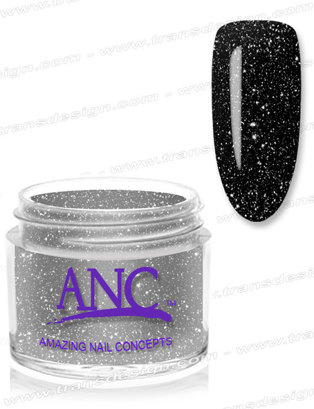 ANC Dip Powder - #102 Black Glitter 1oz.