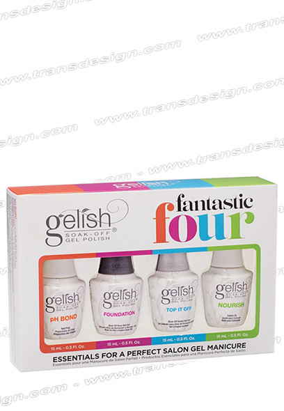 GELISH Fantastic Four Kit pH Bond, Foundation, Top It Off and Nourish