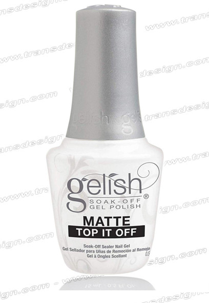 GELISH Matte Top It Off Soak-Off Sealer Gel 0.5oz.