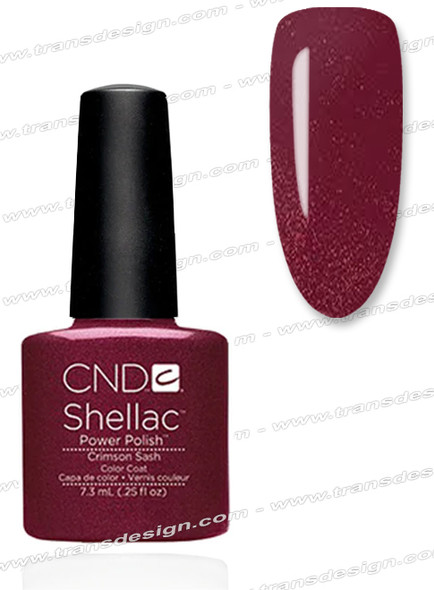 CND SHELLAC - Crimson Sash  0.25oz.
