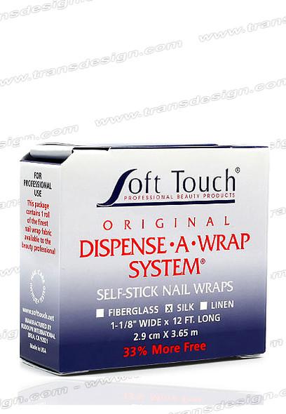 SOFT TOUCH-Dispense A Wrap System Self Stick Nail Wraps SILK