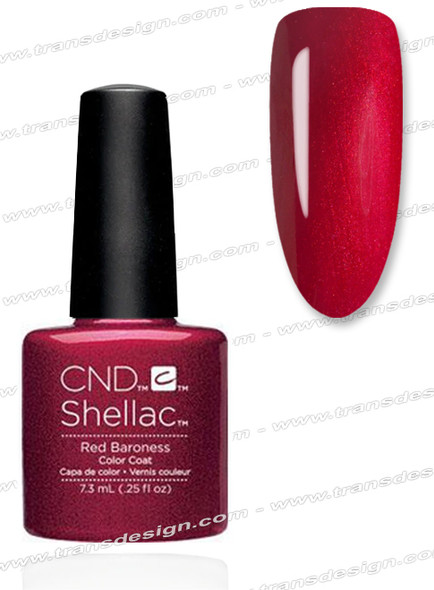 CND SHELLAC - Red Baroness 0.25oz.