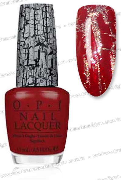 OPI Nail Lacquer - Red Shatter *