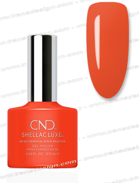 CND Shellac Luxe  - Electric Orange 0.42oz. *