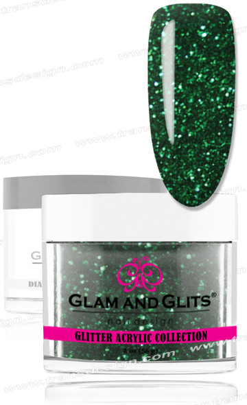 GLAM AND GLITS Glitter Collection - Emerald Green 2oz.