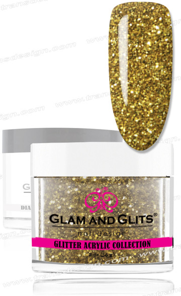 GLAM AND GLITS Glitter Collection - Chartreuse 2oz.