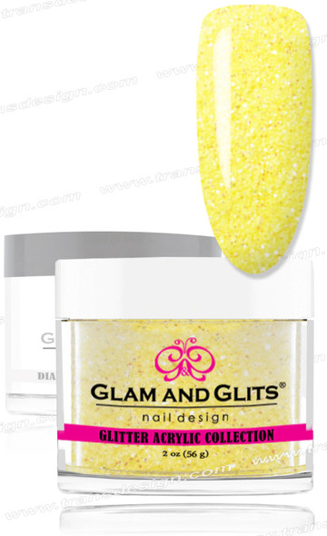 GLAM AND GLITS Glitter Collection - Yellow Crystal 2oz.