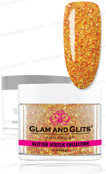 GLAM AND GLITS Glitter Collection - Halloween Orange 2oz.