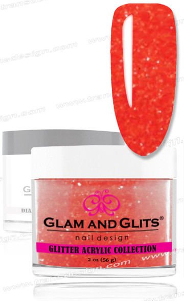GLAM AND GLITS Glitter Collection - Electric Orange  2oz.