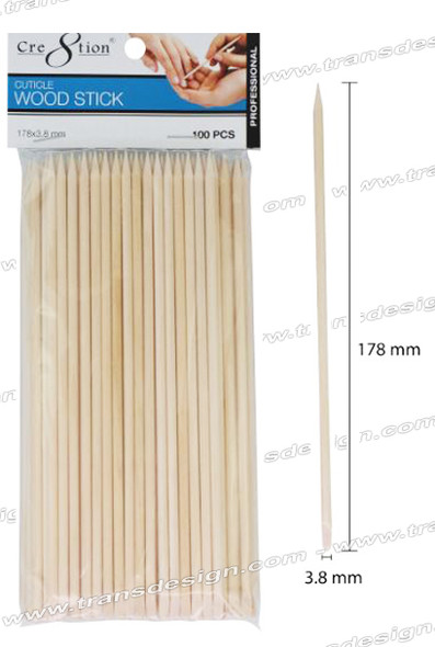 CRE8TION Cuticle Wood Stick 100/bag