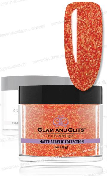 GLAM AND GLITS Matte Acrylic - Orange Brandy 1.oz #MA634