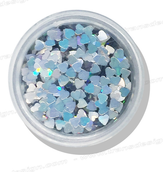 DESIGN - Iridescent Heart 0.25oz. Jar
