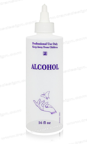 "EMPTY - Imprinted Bottle ""ALCOHOL"" 16oz."