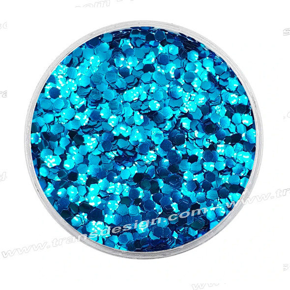 DESIGN - Bright Blue, Mini Hexagon 0.25oz. Jar