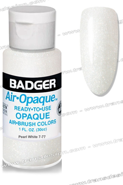 BADGER Airbrush Color - Pearl White 1oz.