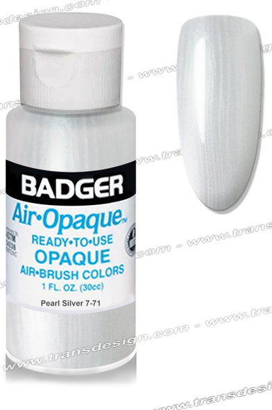 BADGER Airbrush Color - Pearl Silver 1oz.