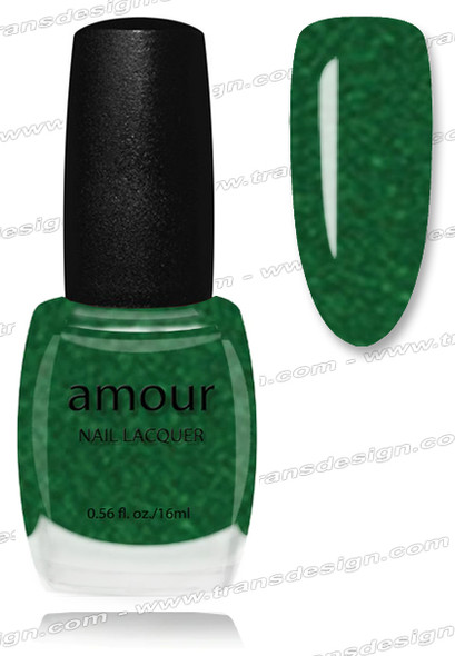 AMOUR Nail Lacquer - Green Glitter 0.56oz