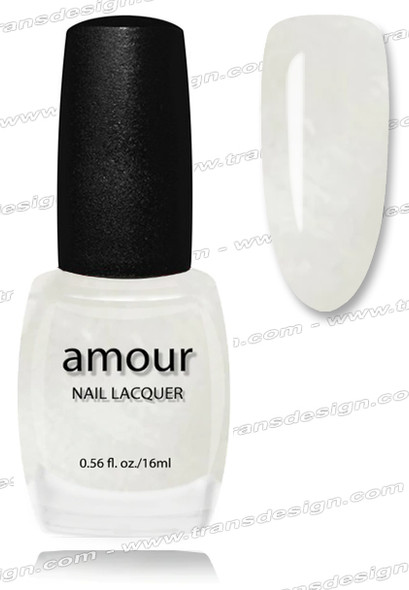 AMOUR Nail Lacquer - Pearl White 0.56oz