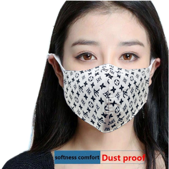 Reusable Face Mask White Pattern