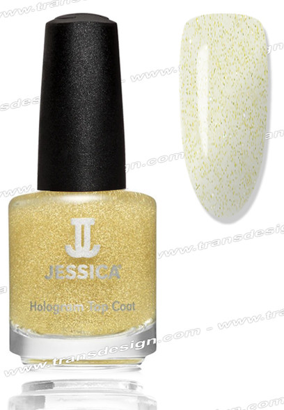 JESSICA Nail Polish - Gold Hologram Topcoat