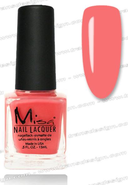 MISA Nail Lacquer - Call Me Crazy Coral 0.5oz *