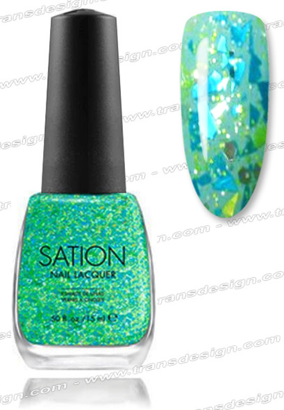 SATION Nail Lacquer - Go-Glitter Girl 0.5oz (G)