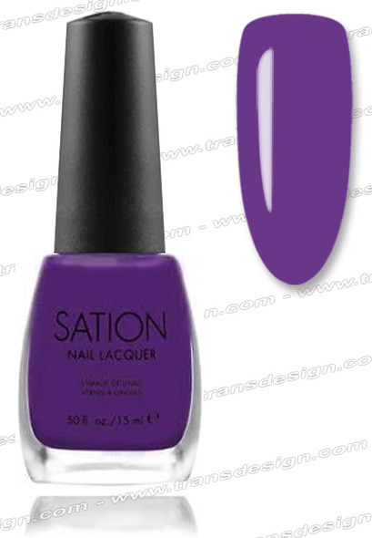 SATION Nail Lacquer - Power to the Purple 0.5oz