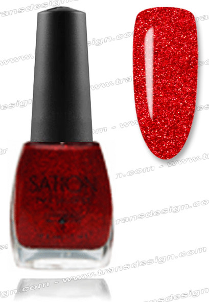 SATION Nail Lacquer - Gumdrop Glitter Red 0.5oz (G)