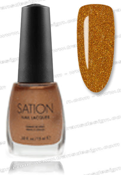 SATION Nail Lacquer - Golden Sparkle 0.5oz (Spk)