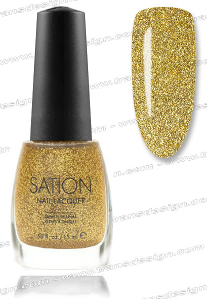 SATION Nail Lacquer - Gold Glitter  0.5oz (G)