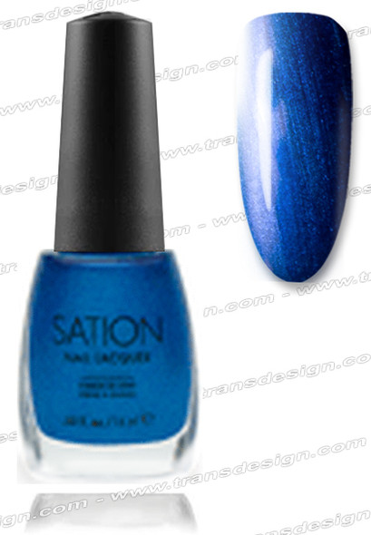 SATION Nail Lacquer - Electric Blue  0.5oz (S)