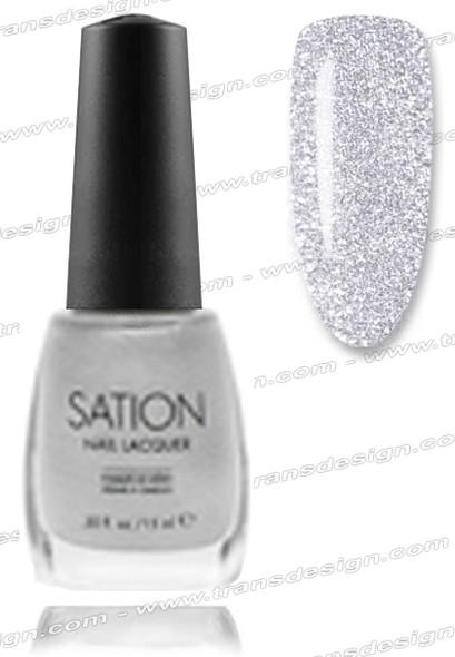 SATION Nail Lacquer - White Sparkle 0.5oz (Spk)