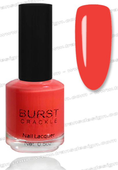 BURST CRACKLE Nail Lacquer - Orange Delight  #6
