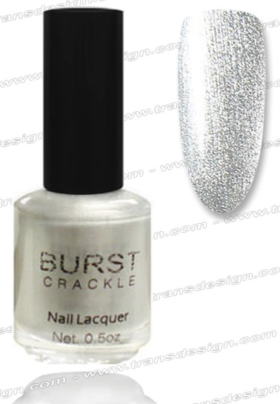 BURST CRACKLE Nail Lacquer - Silver Chain  #16