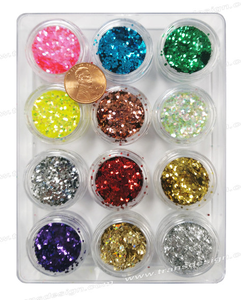 NAIL ART Glitter 12 Color/Pack #1