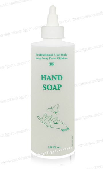 "EMPTY Imprinted Bottle  ""HAND SOAP"" 16oz."