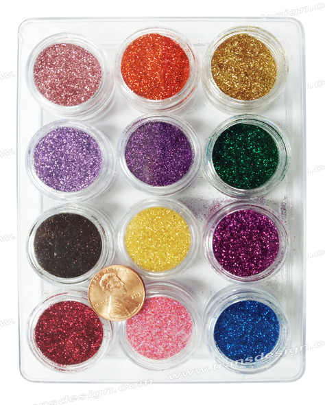 NAIL ART Glitter 12 Color/Pack #3