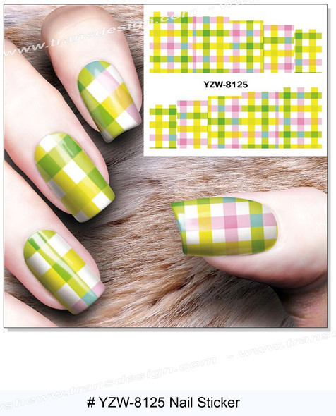 """WATER DECAL """"SQUARE"""" Fabric Pattern 2"""" * 2.5"""""""