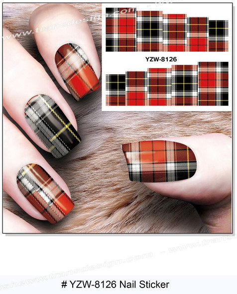 """WATER DECAL """"PLAID"""" Fabric Pattern 2"""" * 2.5"""""""