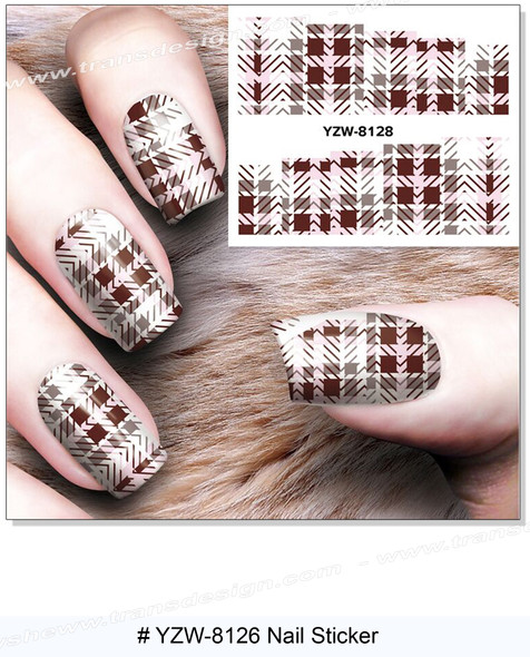 """WATER DECAL """"SQUARE & ZIG ZAGS"""" Fabric Pattern 2"""" * 2.5"""""""