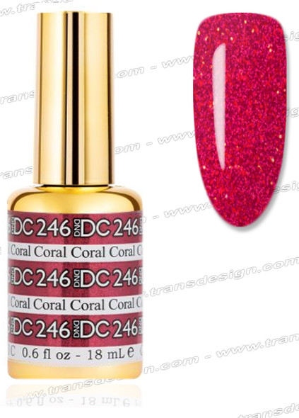 DND DC Mermaid Gel # 246 Coral 0.6oz