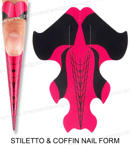 INSTANT Stiletto & Coffin Nail Forms 100 ct.