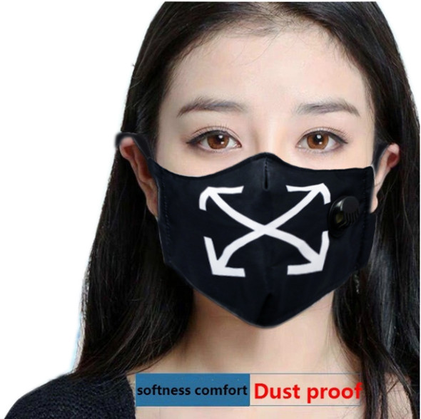 "Reusable Face Mask ""Arrows"" with Valve Breathing Filter"