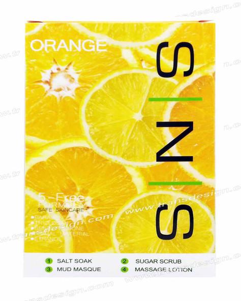 SNS Pedi in a Box Deluxe 4 STEP | Orange ( 25  Boxes/ Case )
