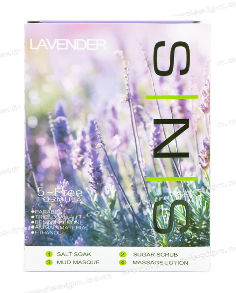 SNS Pedi in a Box Deluxe 4 STEP | Lavender ( 25  Boxes/ Case )