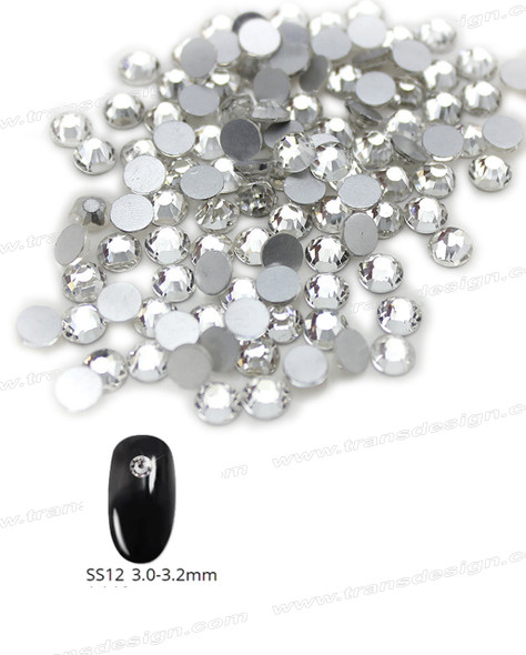 CRYSTAL RHINESTONE Crystal Clear SS12 72 Count/Pack